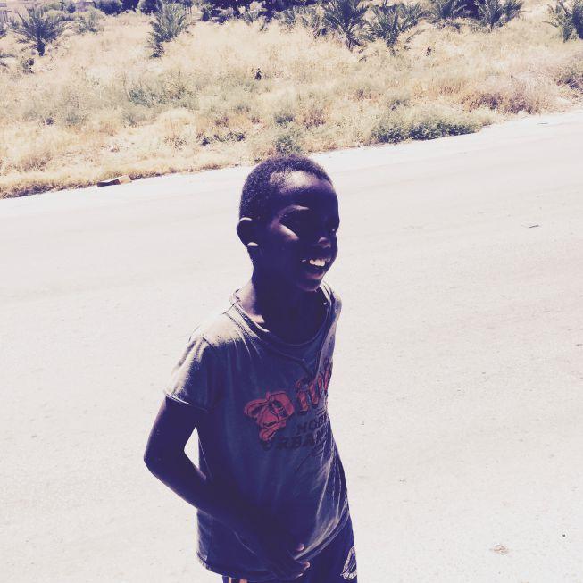 Black Palestinian Boy