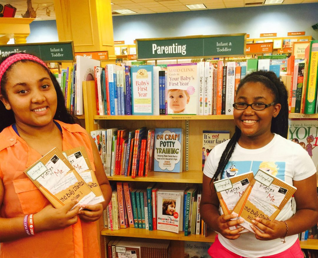 Chelsey (pictured right) promoted The Bully Diaries from Barnes & Noble on the Plaza in Kansas City, MO last year. She is a very active member of our Writing for the Soul Workshop™ program.