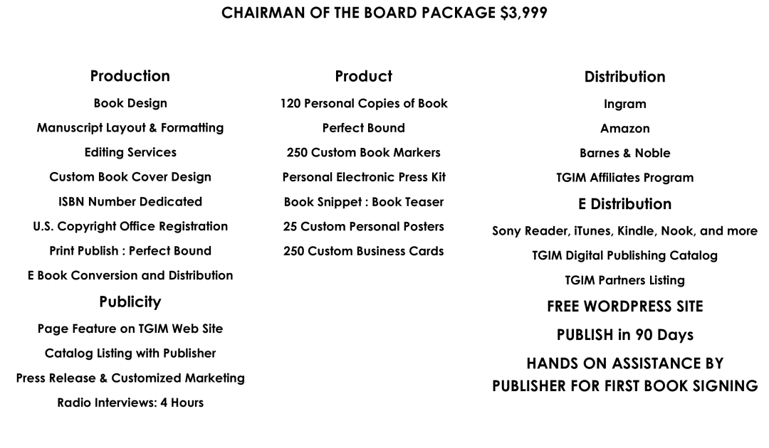 Chairman of the Board Package